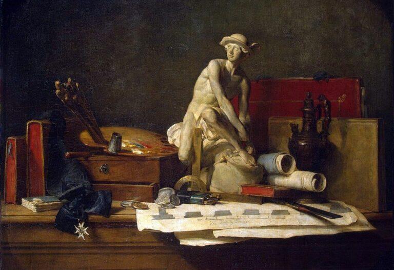 Натюрморт с атрибутами искусства, Жан Батист Симеон Шарден